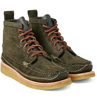 Yuketen Maine Guide 6 Eye Db Leather Boots Army Green
