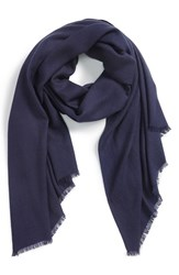 Women's Nordstrom Wool And Cashmere Wrap Blue Navy Peacoat