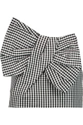 Marc By Marc Jacobs Bow Embellished Gingham Twill Mini Skirt Black