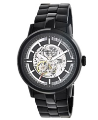 Kenneth Cole New York Watch Men's Automatic Black Ion Plated Stainless Steel Bracelet 46Mm Kc3981