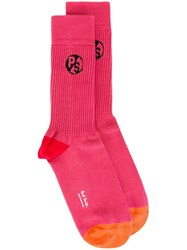 Paul Smith Colour Block Socks Pink Purple