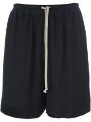 Rick Owens Drawstring Shorts Black