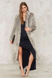 Lavish Alice Hari Faux Fur Coat Gray