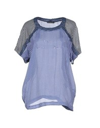 New York Industrie Shirts Blouses Women Blue