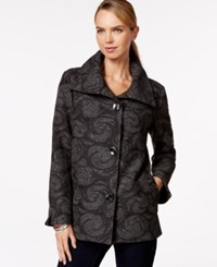 Jm Collection Petite Plush Wing Collar Coat Only At Macy's Magic Swirl