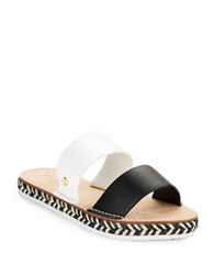 Kate Spade Idreena Espadrille And Leather Sandals Black