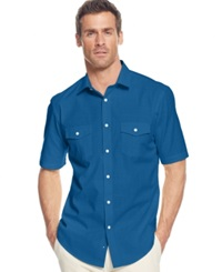 Alfani Big And Tall Short Sleeve Warren Shirt Elevate