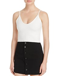 Groceries Apparel Cami Crop Tank White