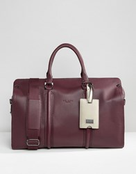 Ted Baker Holdall Leather Red