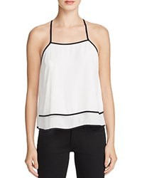 Aqua Double Layer Tank White Black