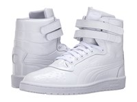 Puma Sky Ii Hi Patent Emboss White Men's Court Shoes