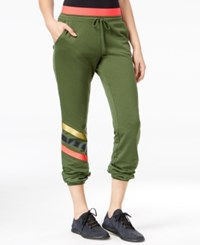 Jessica Simpson The Warm Up Juniors' Logo Jogger Pants Only At Macy's Olive