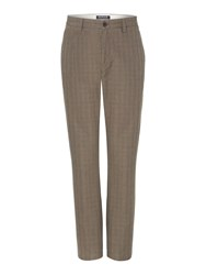 Howick Chesnut Check Straight Leg Trouser Brown
