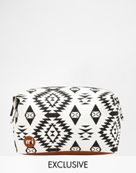 Mi Pac Mi Pac Asos Exclusive Geometric Make Up Bag Geometric Clear