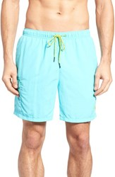 Tommy Bahama Men's Big And Tall 'Happy Go Cargo' Swim Trunks Blue Radiance