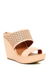 Gentle Souls By Kenneth Cole Candice 2 Cutout Platform Wedge Sandal Orange