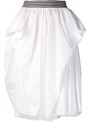 Maison Rabih Kayrouz Knee Length Skirt White