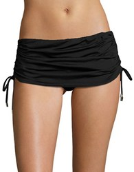 Calvin Klein Side Shirred Skirted Bottom Black