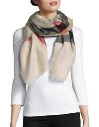 Lord And Taylor Plaid Blanket Scarf Camel