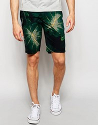 Lindbergh Chino Shorts With Floral Print Green
