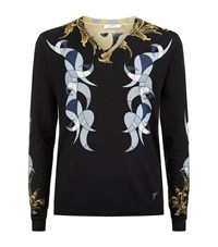 Versace Collection Baroque V Neck Sweater Male
