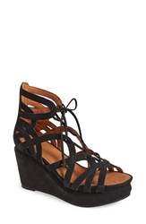 Women's Gentle Souls 'Joy' Lace Up Nubuck Sandal 3 1 2' Heel