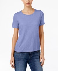 Eileen Fisher Organic Cotton T Shirt Periwinkle