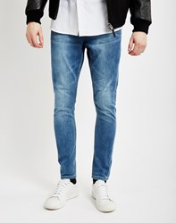 Cheap Monday Dropped Rise Above Jeans Blue