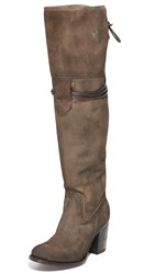 Freebird Brock Over The Knee Boots Grey