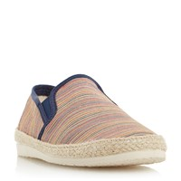 Dune Fraser Island Striped Espadrille Shoes Multi Coloured