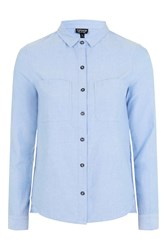 Topshop Blue Oxford Shirt