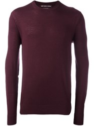 Michael Kors Crew Neck Pullover Pink Purple