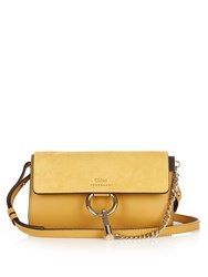 Chloe Faye Mini Leather And Suede Cross Body Bag Light Yellow