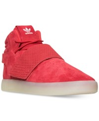 Adidas Men's Tubular Invader Strap Casual Sneakers From Finish Line Red Vintage White