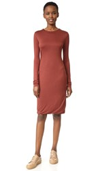 Acne Studios Nalani Dress Rosewood Red