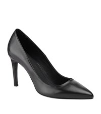 Maje Freya Leather Pumps Female Black