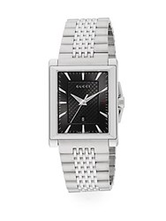 Gucci Square Face Analog Watch Silver
