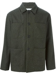 Julien David Front Pocket Tweed Jacket Green
