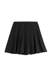 Steffen Schraut Essential Luxury Pleated Skirt Black