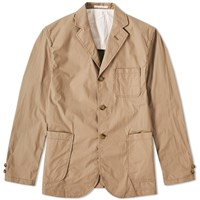 Beams Plus 3 Button Typewriter Jacket Brown