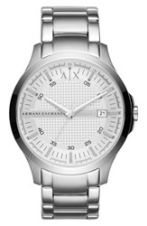 Men's Ax Armani Exchange Bracelet Watch 46Mm Silver