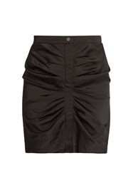 Etoile Isabel Marant Hotta Ruched Crepe De Chine Mini Skirt Black