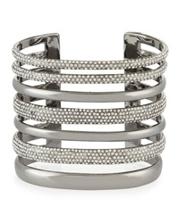 Open Crystal Cuff Bracelet Ruthenium St. John Collection