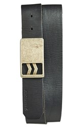 Men's A. Kurtz 'Patrick' Leather Belt Black