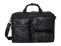Tumi Dalston Tyssen Double Zip Brief Black Camo Briefcase Bags