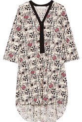 Thakoon Addition Printed Eyelet Cotton Dress White