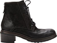 Marsell Women's Back Zip Ankle Boots Black
