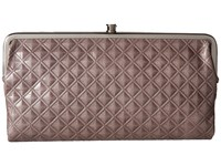 Hobo Lauren Diamond Embossed Granite 1 Clutch Handbags Brown