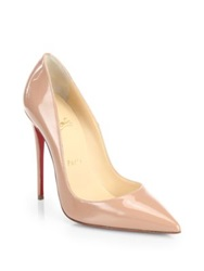 Christian Louboutin So Kate Patent Leather Pumps Black Nude Bon Bon Pink
