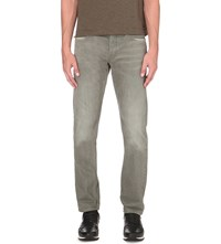 Hugo Boss Faded Slim Fit Tapered Jeans Dark Beige
